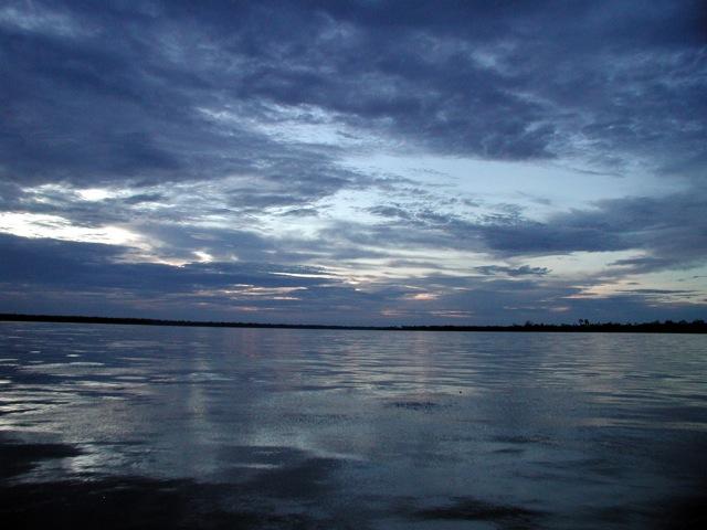 Sundown on the Amazon