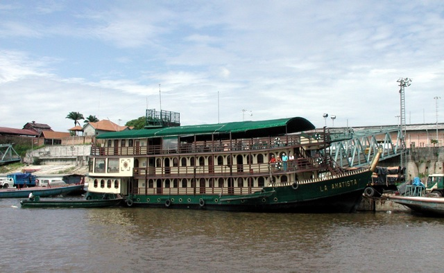 The Amatista On Its Way Down The Amazon