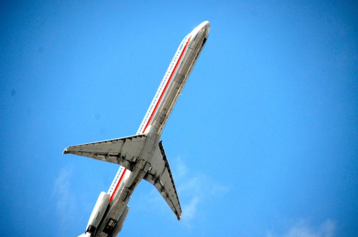 Plane Flys Over Citifield - Queens, NY 2012