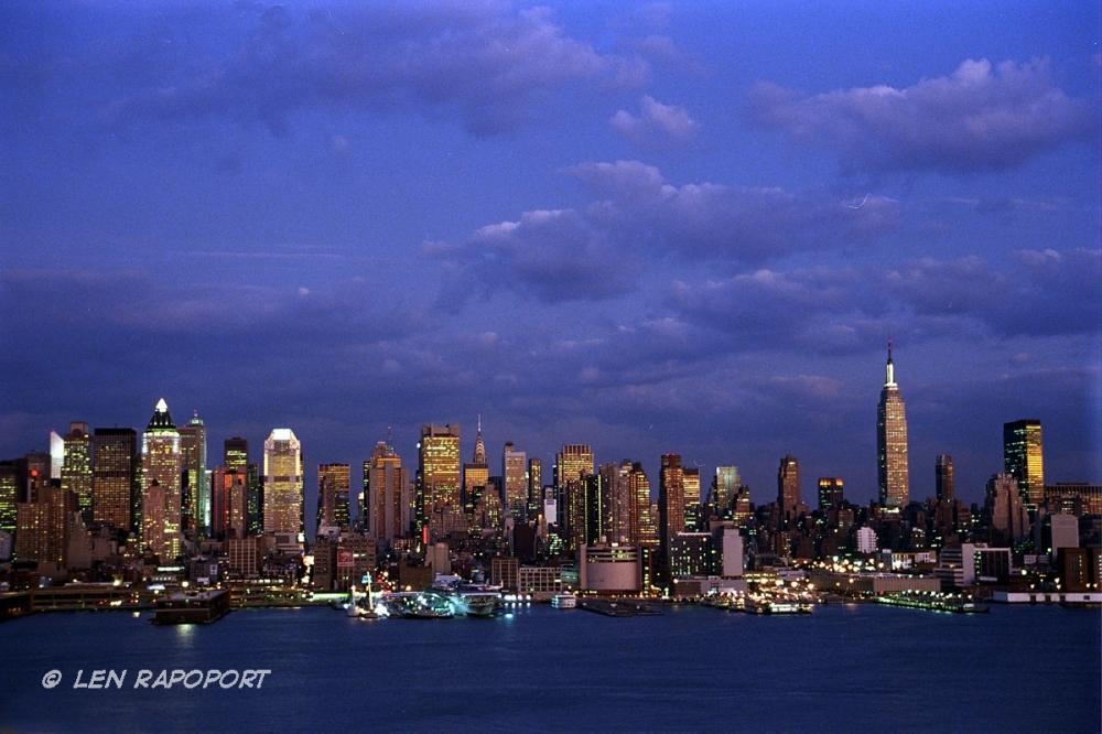 NY-Skyline Night-From New Jersey 2011