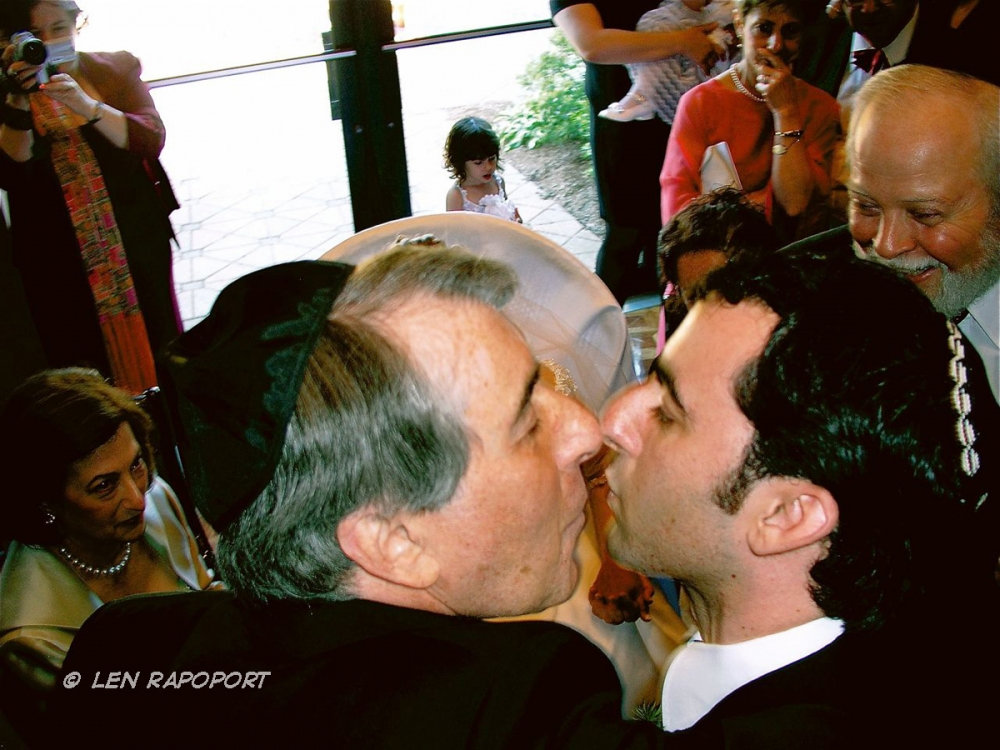 Son's Wedding - Father & Son Kiss