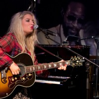 Carly Connor on media stage of Montreux Jazz Festival