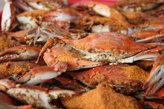 the crab population steamed crabs at home bluecrabs 5 @ 5 blue crabs ...