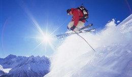 &quot;Man Skiing Off Mountain&quot; from Bigstock Photo.com