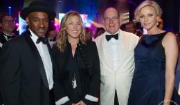Marcus Miller, Diana Krall, Prince Albert and Princess Charlene