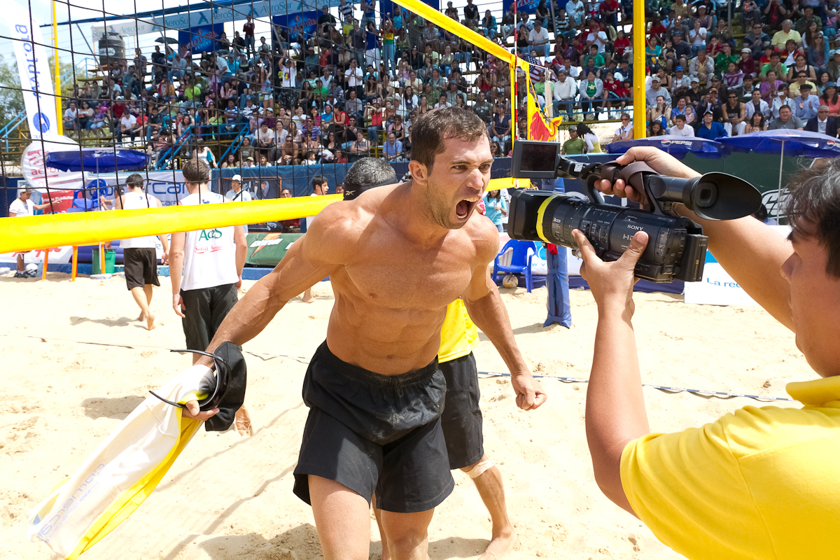 Adrenaline-Brazilian-volleyball-athlete-Juliano-Vieira-letting-off-steam-after-a-big-win-over-team-USA-Cochabamba-Bolivia-April-2011