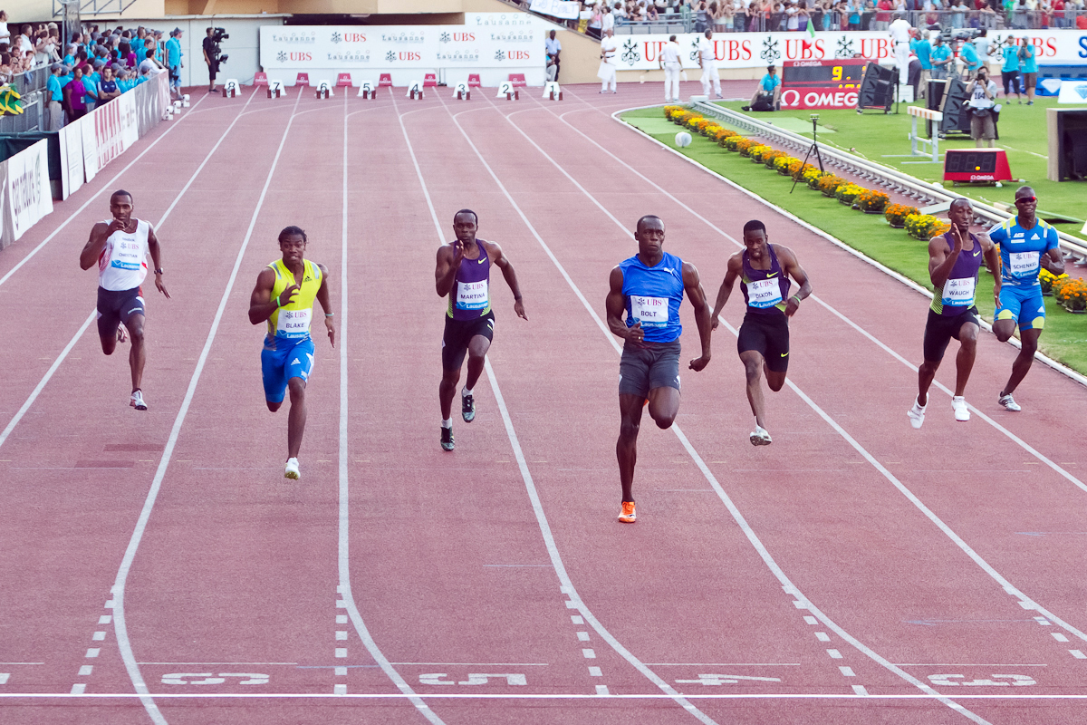 Bolt-to-the-finish-Athlete-Usain-Bolt-domininates-the-IAAF-Diamond-League-Athletissima-100m-Lausanne-Switzerland-July-2010