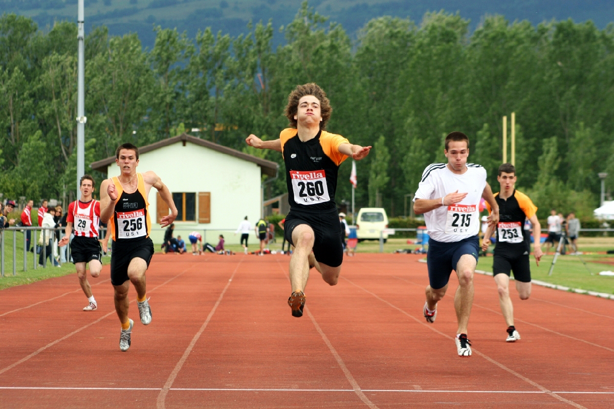 Leaping-Finish-Swiss-athlete-Steve-Zurkinden-in-100-meters-Yverdon-Switzerland-June-2009