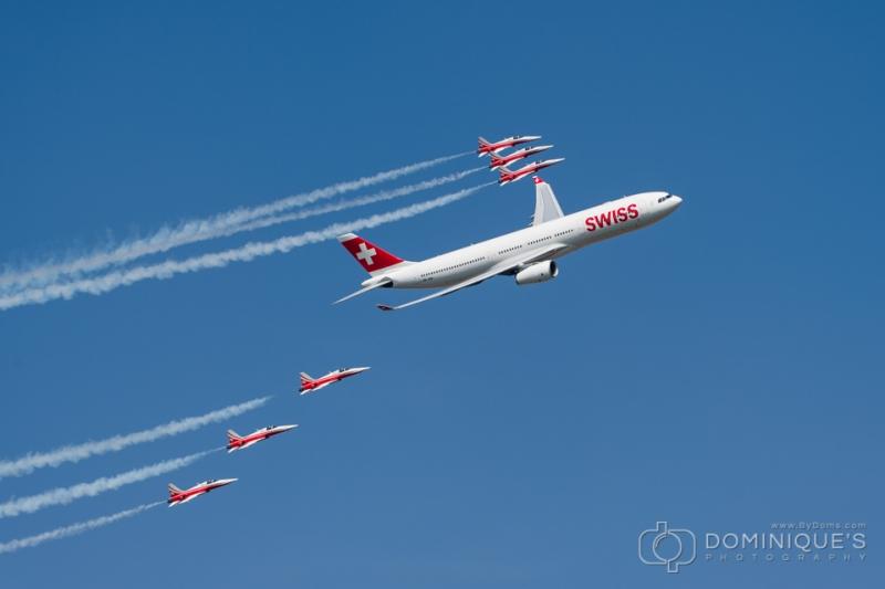 Swiss A330 - Patrouille Suisse