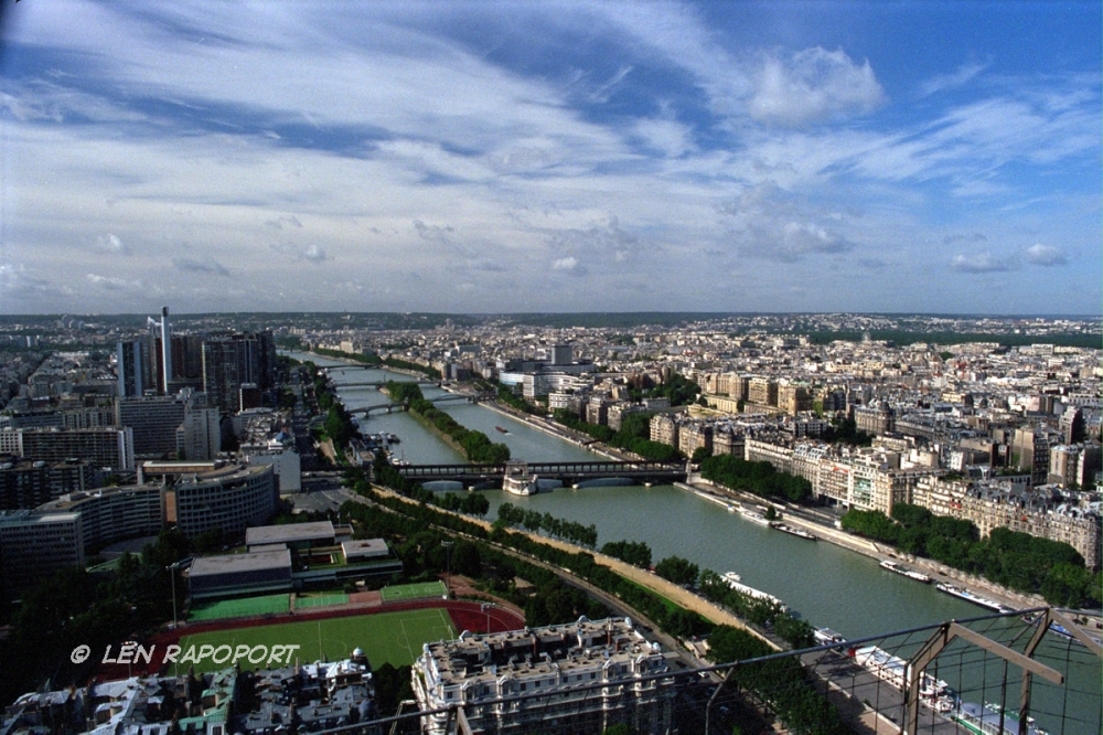 View From Eiffel Tower, France
