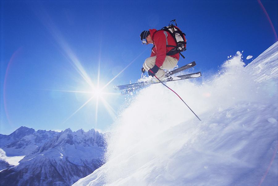 """Man Skiing Off Mountain"" from Bigstock Photo.com"