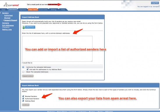 Import Your Addresses Here-Click to Enlarge