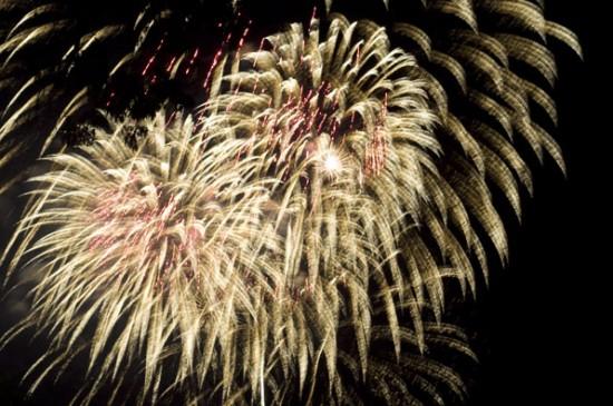 Stunning fireworks display