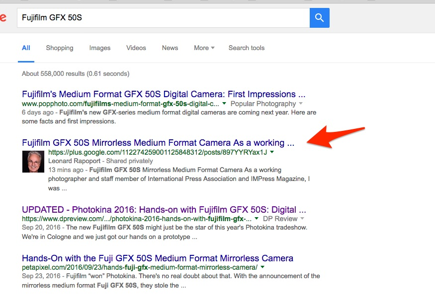 Once published we take top spot on a Google search.