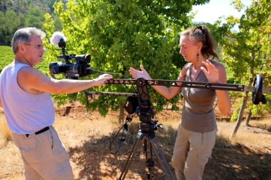 Videographer Rudi Goldman & crew shooting at Kingston Family Vineyards, Casablanca, Chile