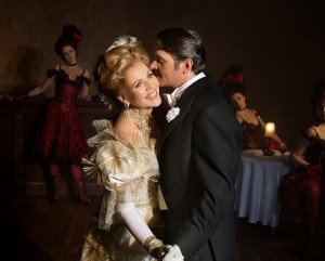 Renee Fleming (Hanna) and Nathan Gunn (Danilo), MET Opera, The Merry Widow, 2014-15