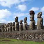 Row of Rapa Nui Moai