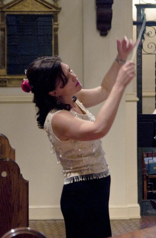 Dr. Miceli Rehearses Choir for Christ Church Performance