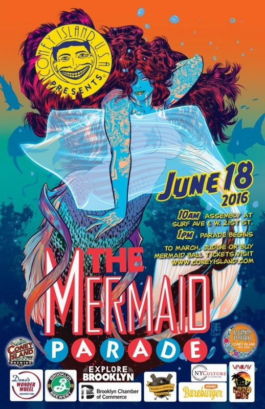 Mermaid Parade 2016 Poster