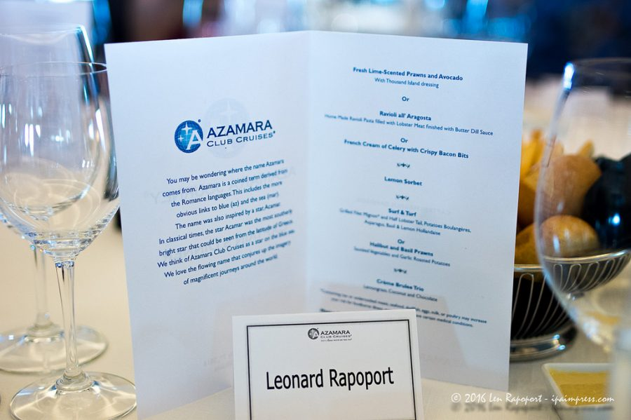 Invitation for the Captains Table dinner