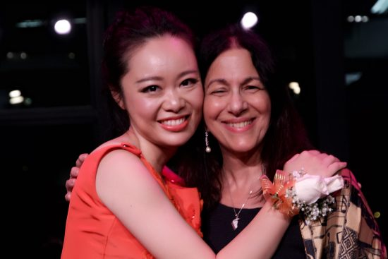 Jiaoyue Lyu and Dr. Elise Sobol following this enthralling Lincoln Center Concert