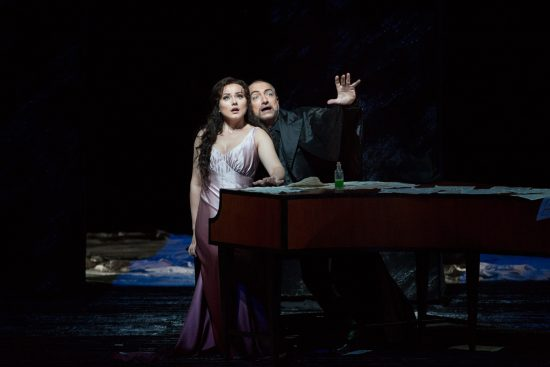 Hartig and Naouri in 'Les Contes d'Hoffmann' at the MET Opera, 2017-18 Season
