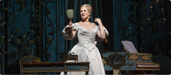 Diana Damrau as Violetta in Verdi's 'La Traviata,' MET Opera, December 15, 2018.