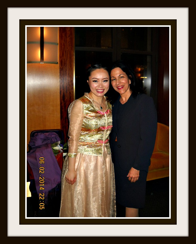 Classical Guqin Performer, Jiaoyue Lyu with Prof. Elise Sobol, Ed.D., Weill Recital Hall, Carnegie Hall, NYC, June 2, 2014