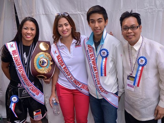 L to R: Anna Julaton, Michelle Bumgarner, Michael Christian Marinez and Oliver Oliveros